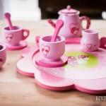 set da thè giocattolo in legno per bambina