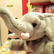 elefante peluche burattino national geographic