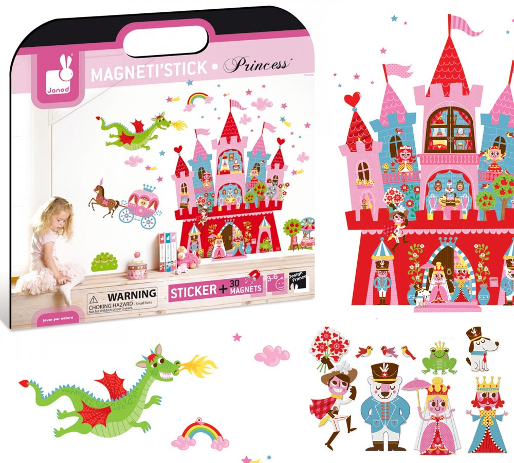 Muri Camerette Per Bambini janod sticker magnetici per la cameretta: principessa
