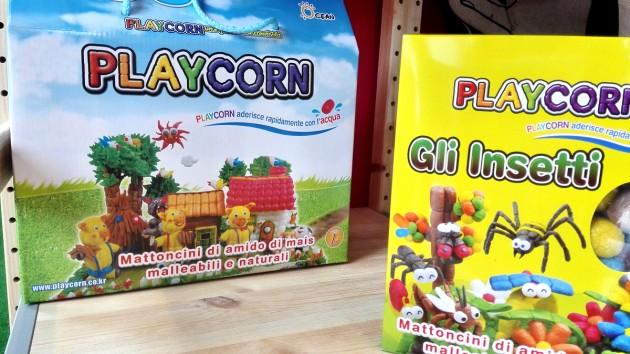 PlayCorn mattoncini naturali di amido di mais